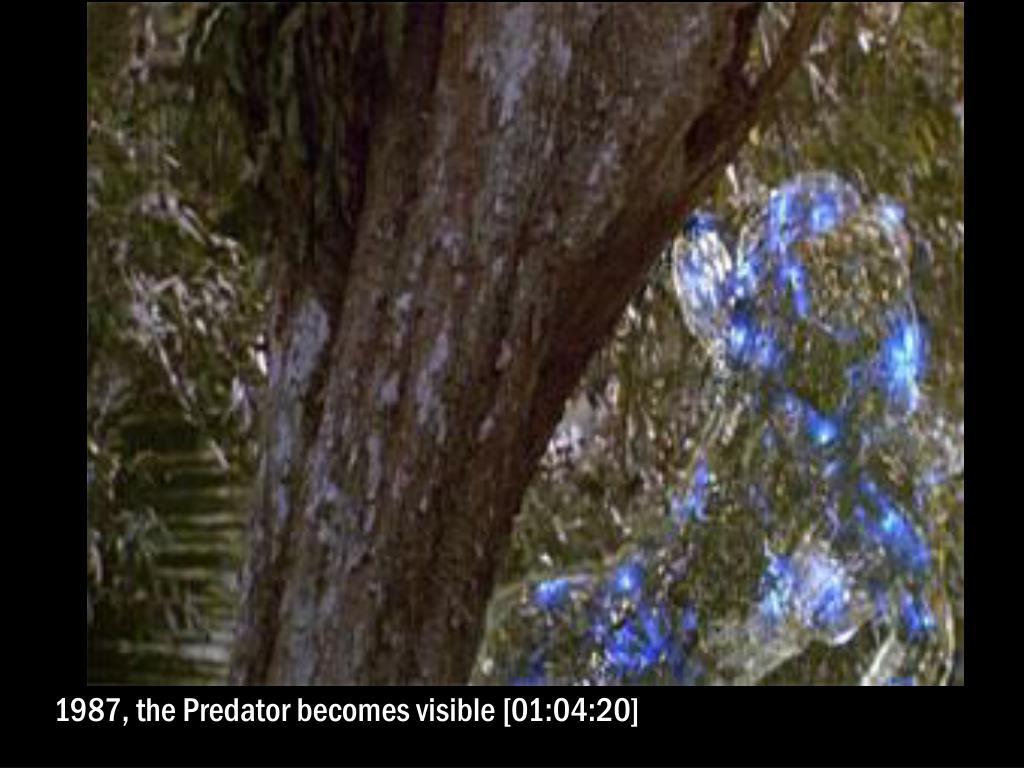 1987, the Predator becomes visible [01:04:20]