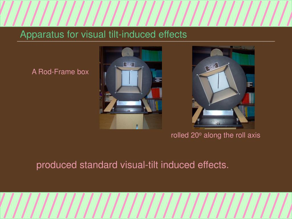 Apparatus for visual tilt-induced effects