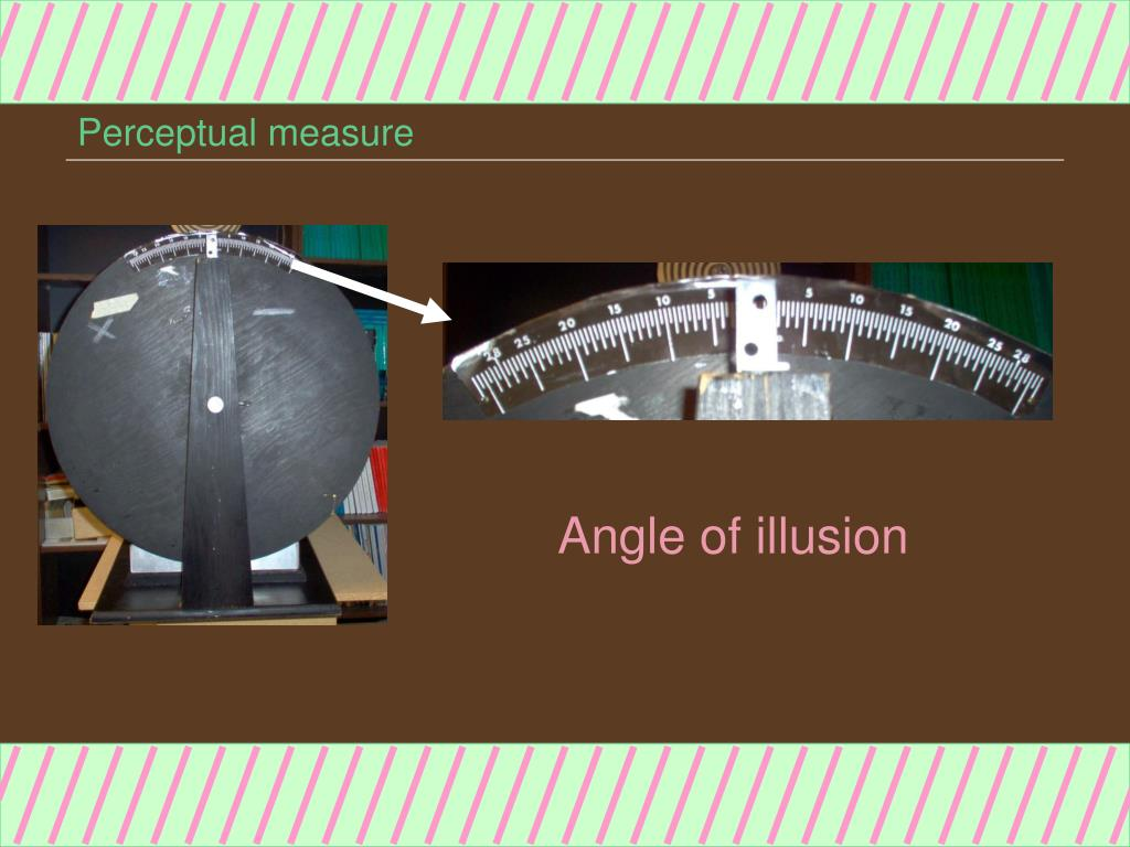 Perceptual measure
