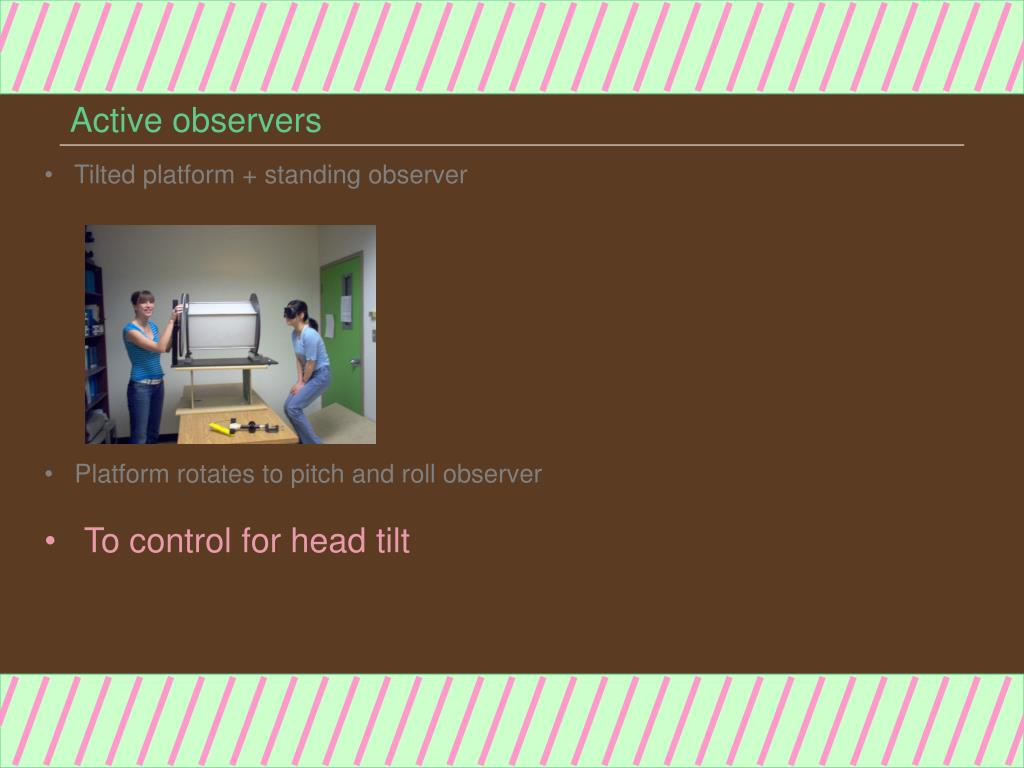 Active observers