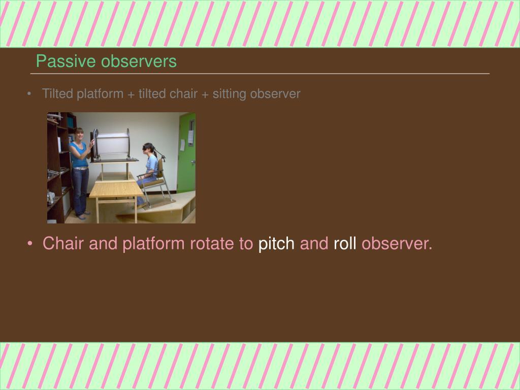 Passive observers