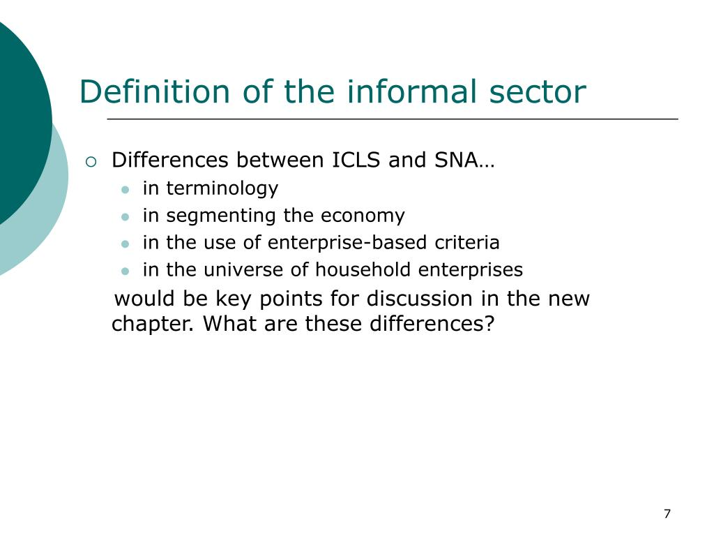 Definition of the informal sector