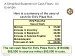a simplified statement of cash flows an example14