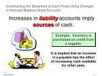 constructing the statement of cash flows using changes in noncash balance sheet accounts8
