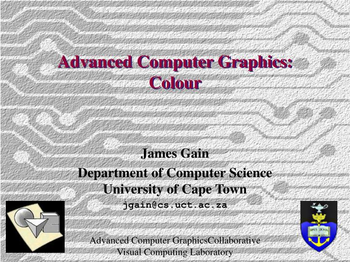 Advanced computer graphics colour