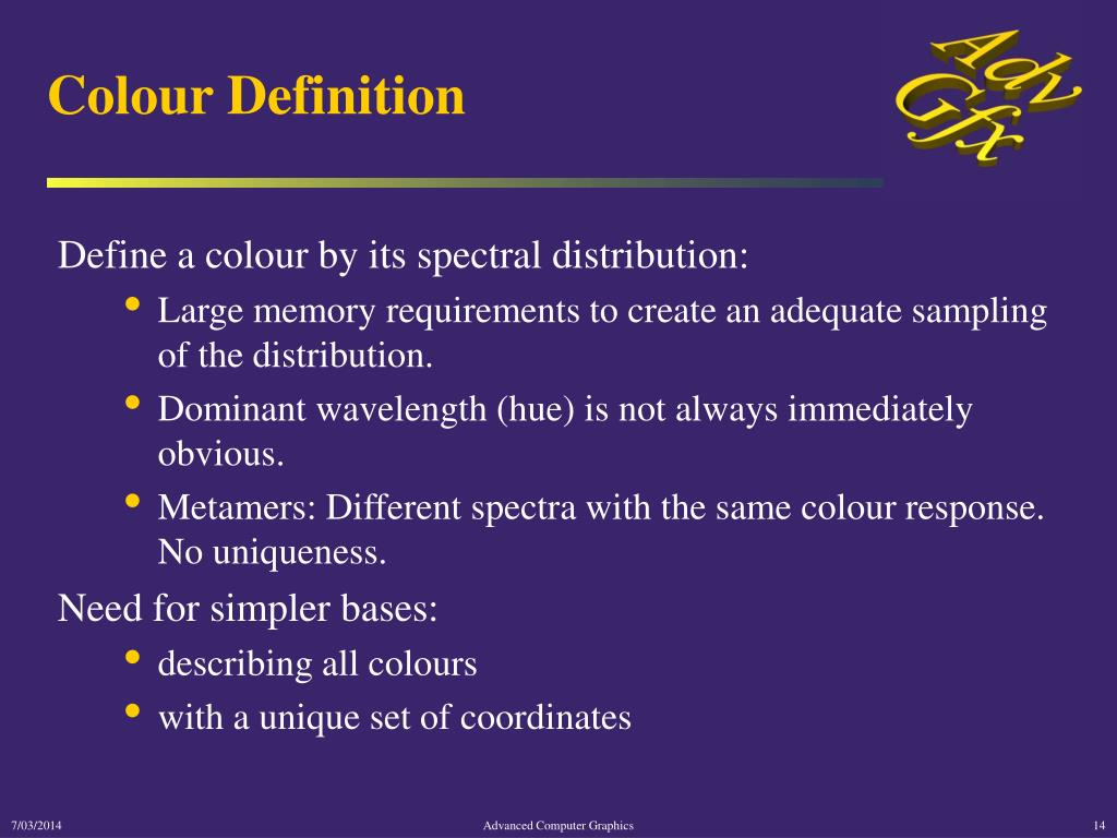 Colour Definition