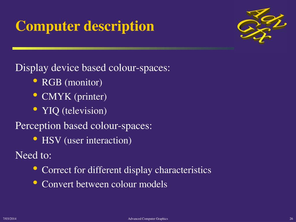 Computer description