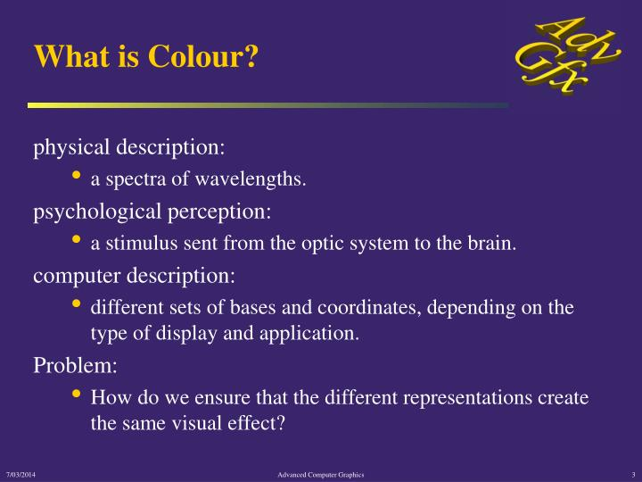 What is colour