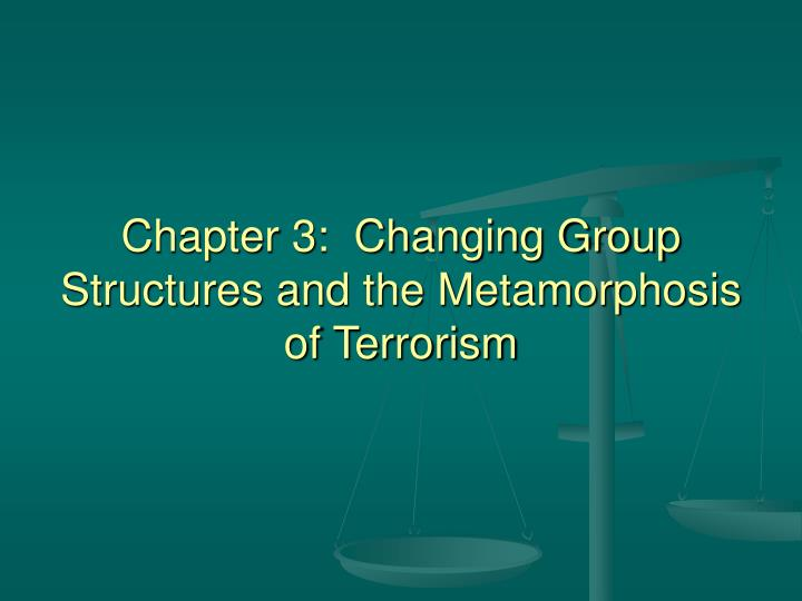 Chapter 3 changing group structures and the metamorphosis of terrorism