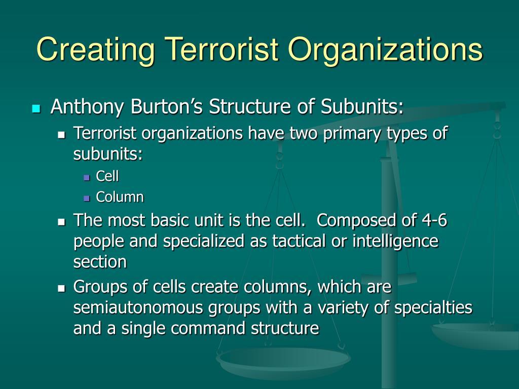 Creating Terrorist Organizations