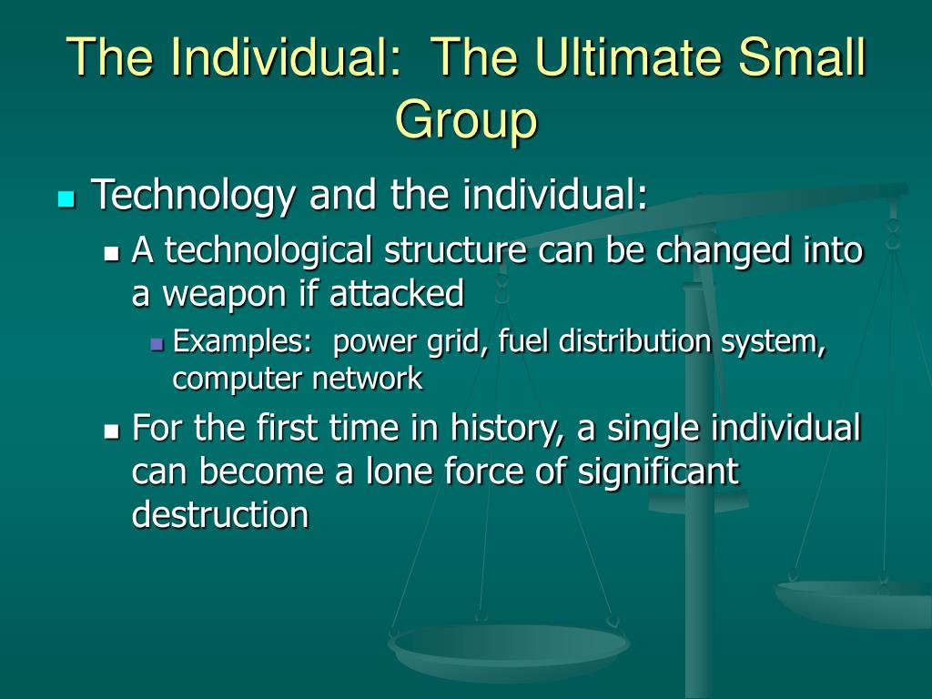 The Individual:  The Ultimate Small Group