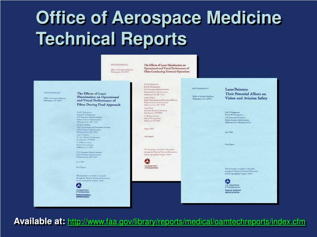 Office of Aerospace Medicine Technical Reports