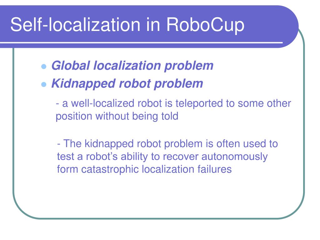 Self-localization in RoboCup