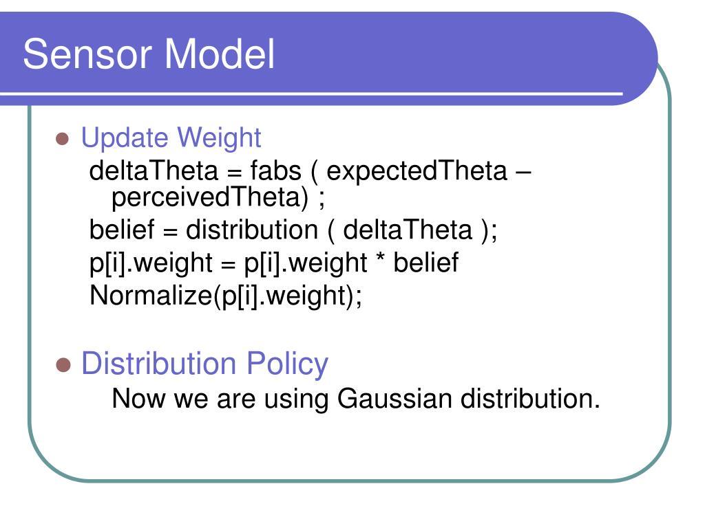 Sensor Model