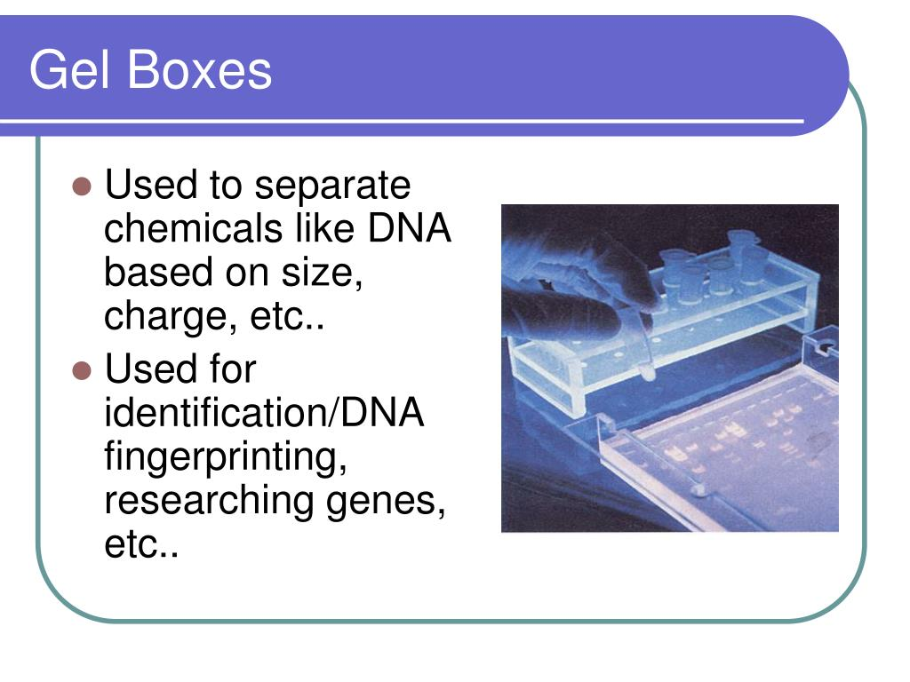 Used to separate chemicals like DNA based on size, charge, etc..