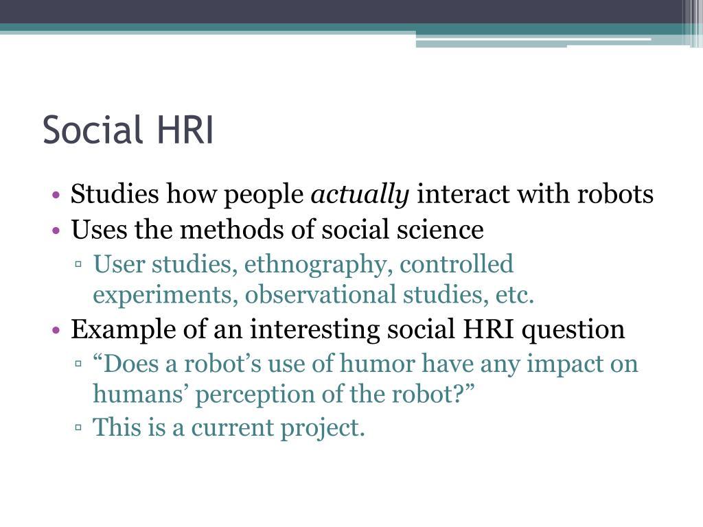 Social HRI