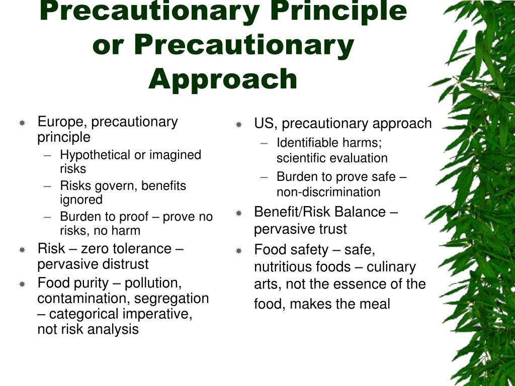 Europe, precautionary principle