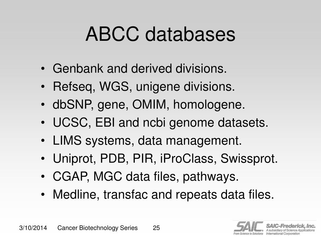 ABCC databases