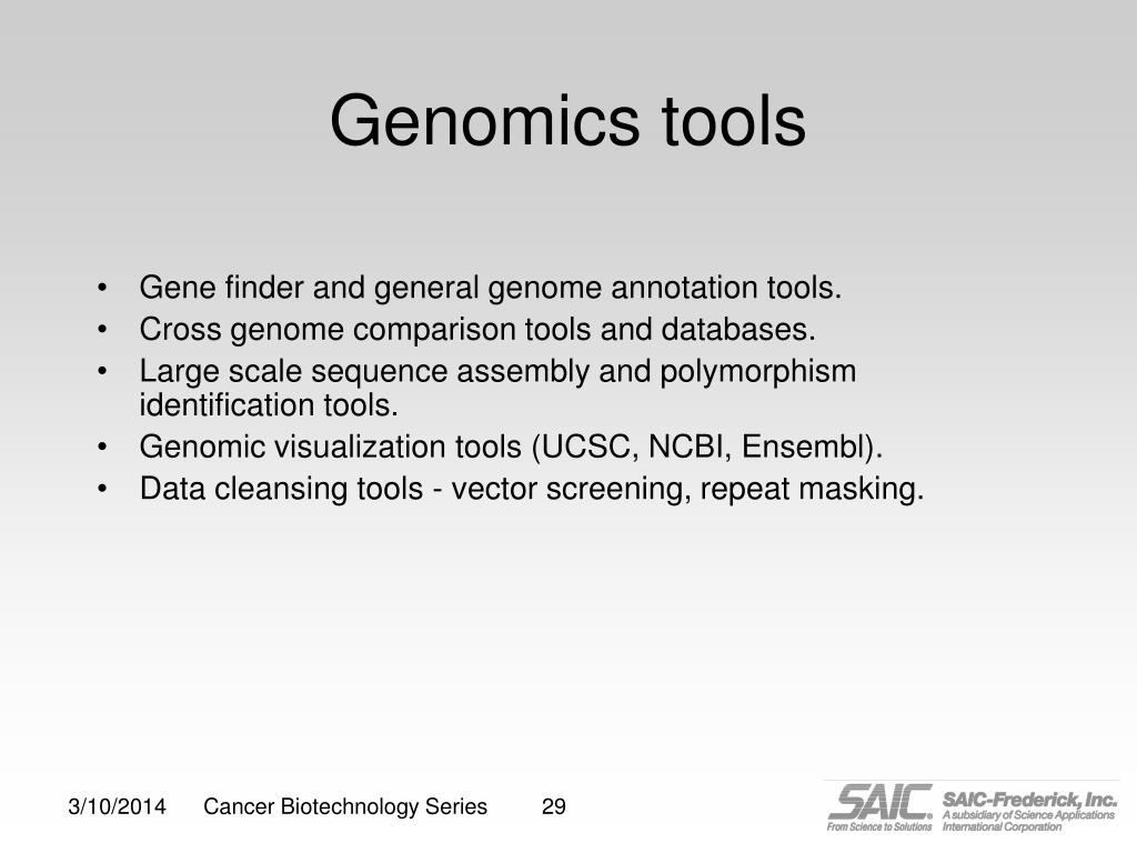 Genomics tools