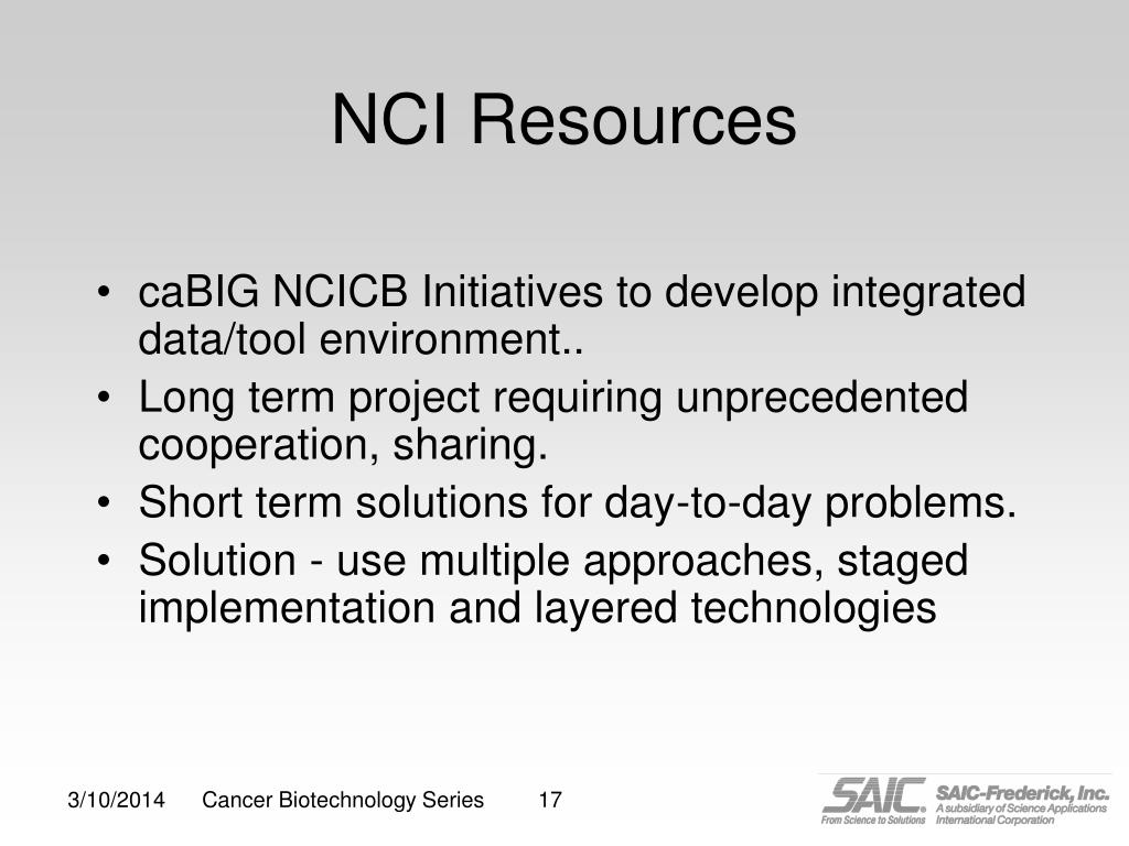 NCI Resources
