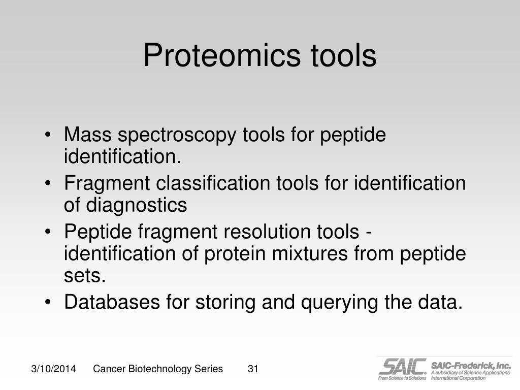 Proteomics tools
