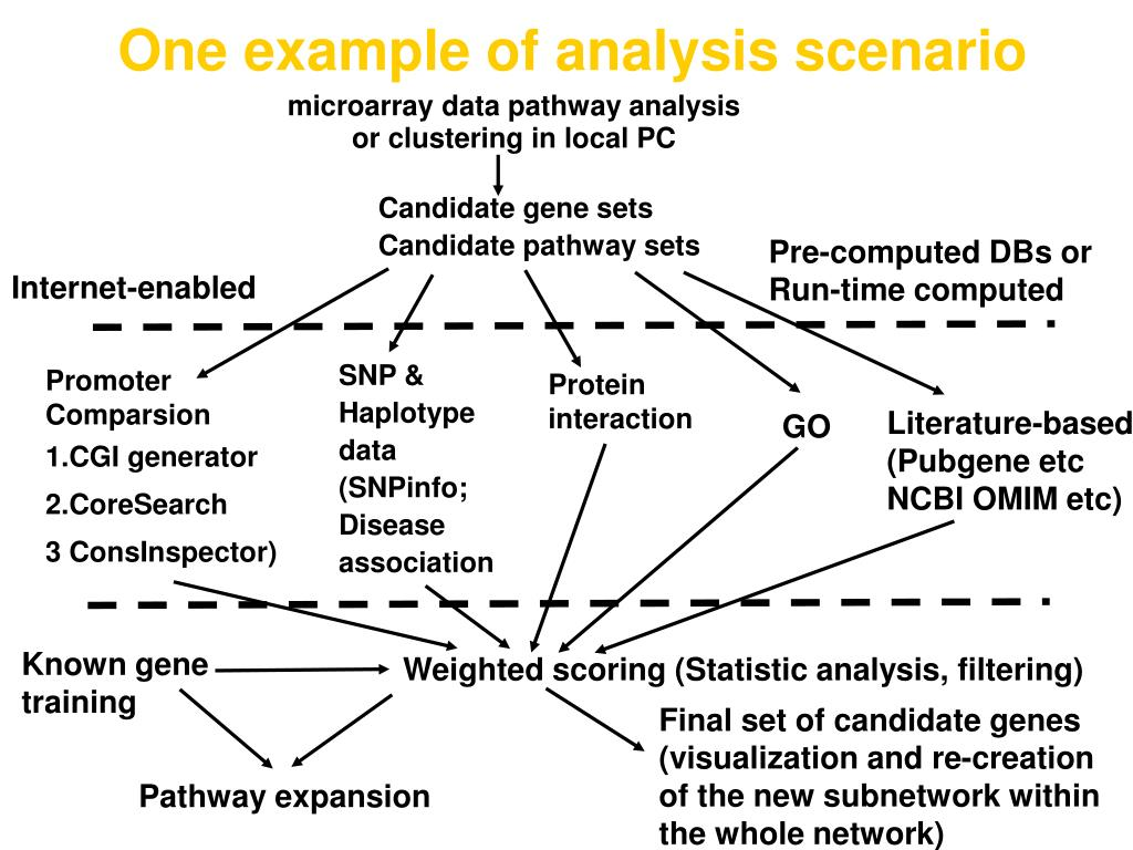 One example of analysis scenario
