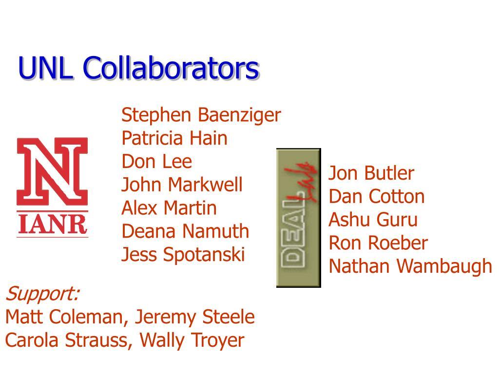 UNL Collaborators