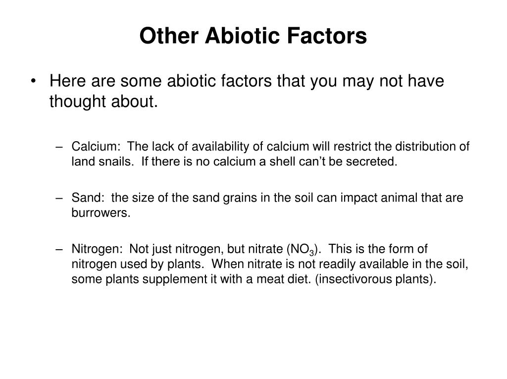 Other Abiotic Factors