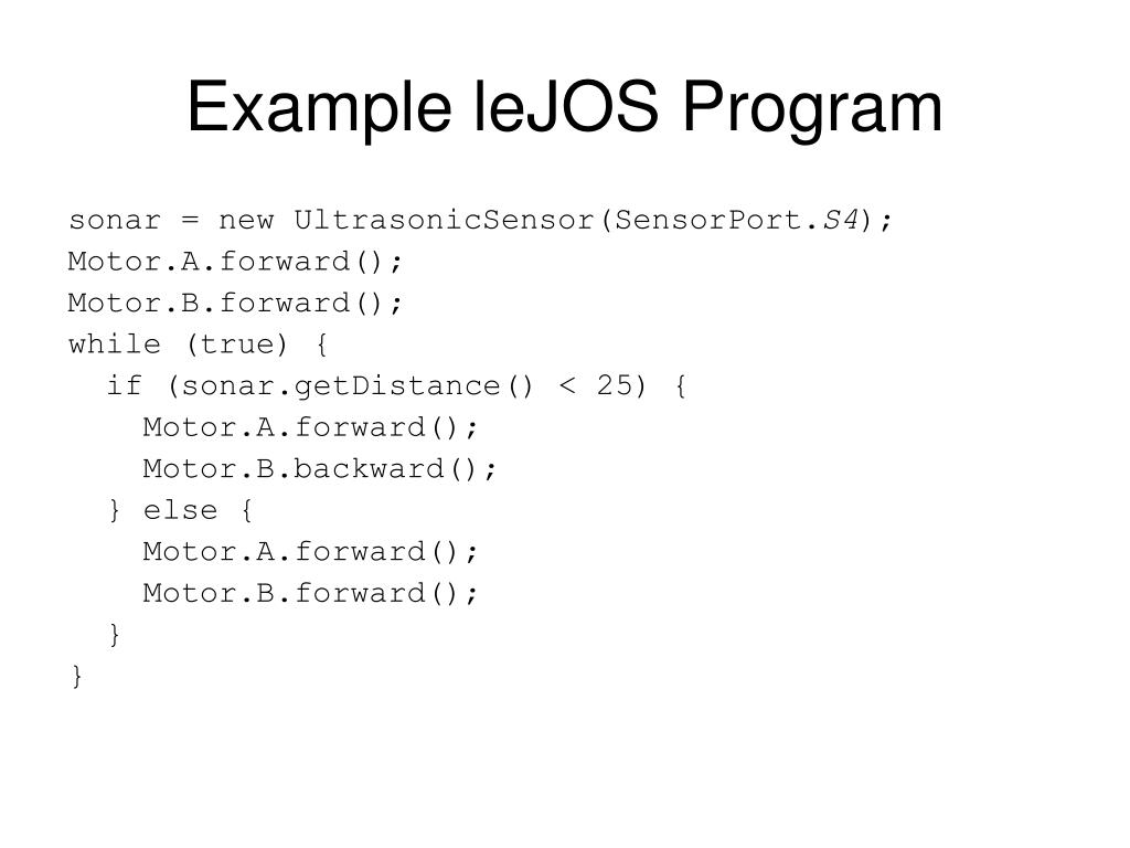 Example leJOS Program
