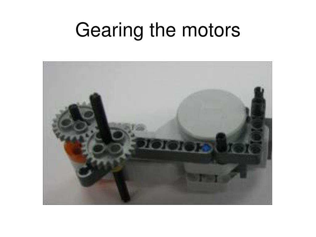 Gearing the motors
