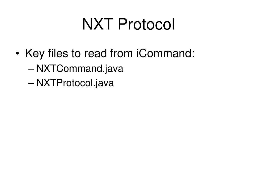 NXT Protocol