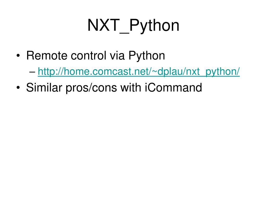 NXT_Python