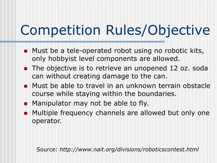 Competition rules objective