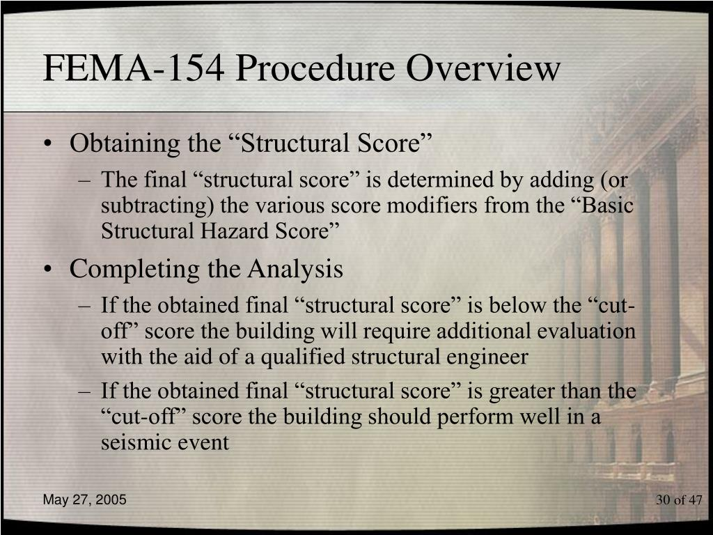 FEMA-154 Procedure Overview
