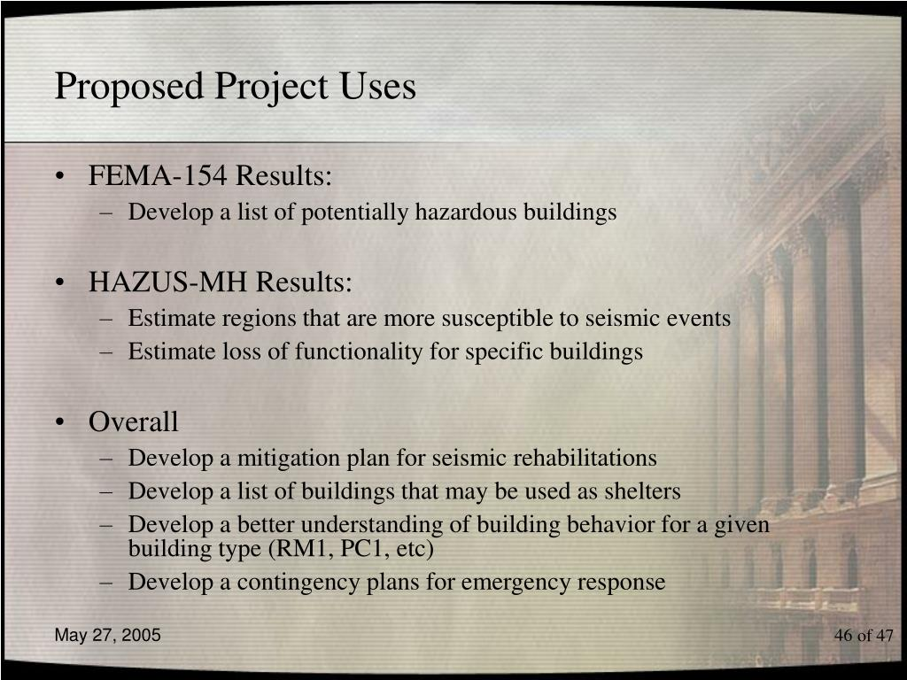 Proposed Project Uses