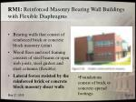 rm1 reinforced masonry bearing wall buildings with flexible diaphragms
