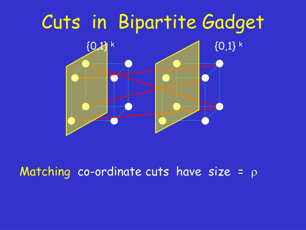 Cuts  in  Bipartite Gadget