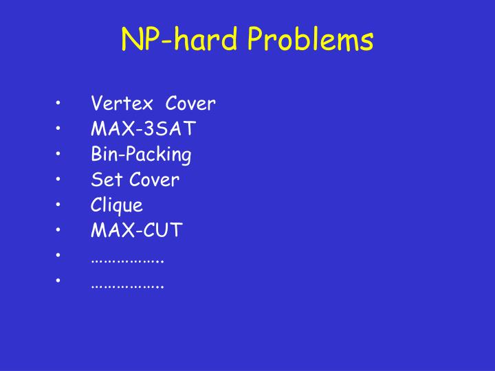 Np hard problems