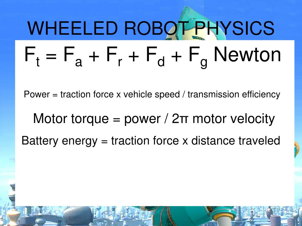 WHEELED ROBOT PHYSICS