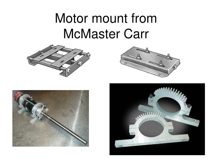 Motor mount from mcmaster carr