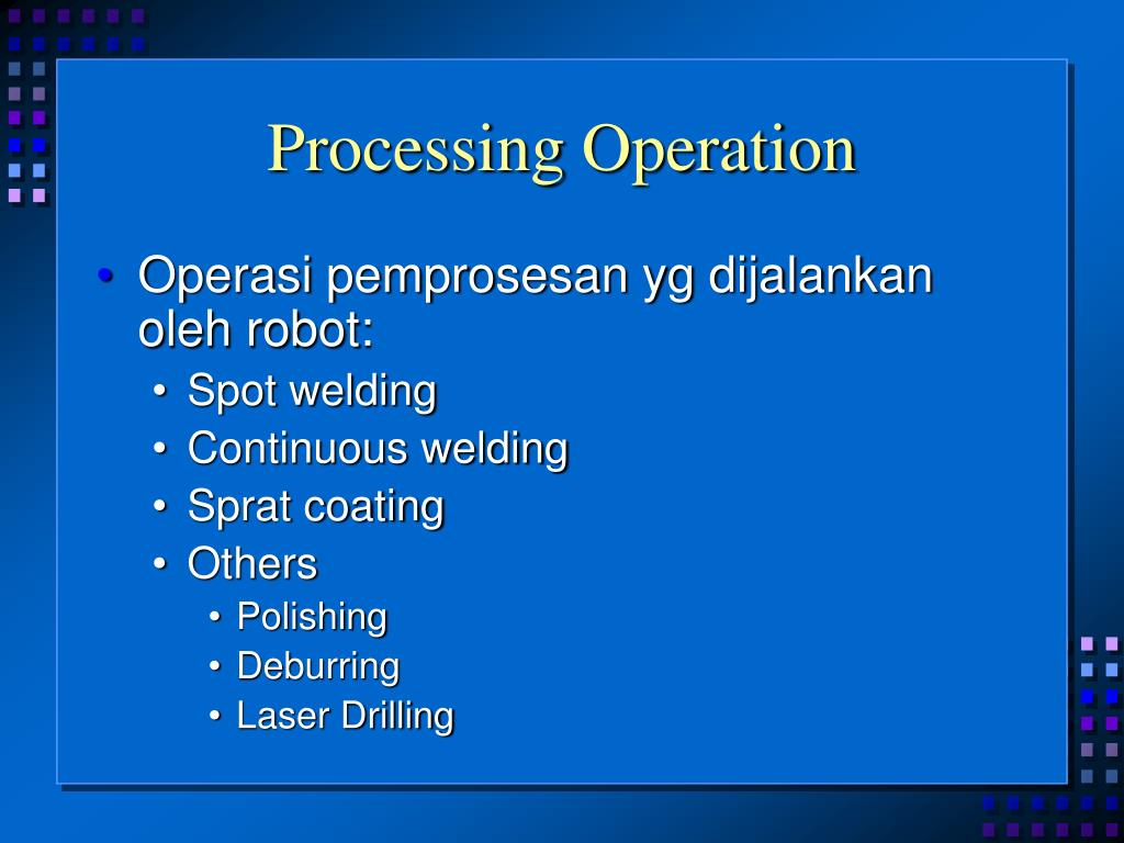 Processing Operation
