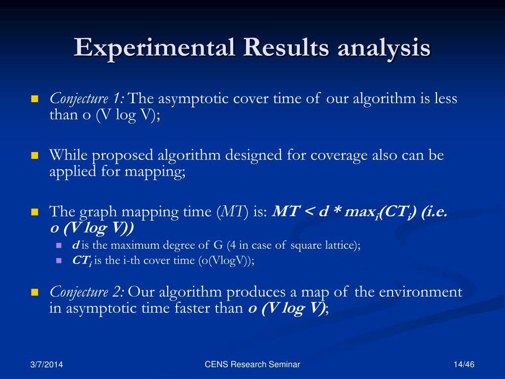 Experimental Results analysis