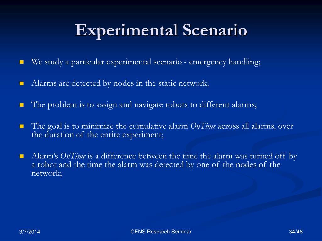 Experimental Scenario
