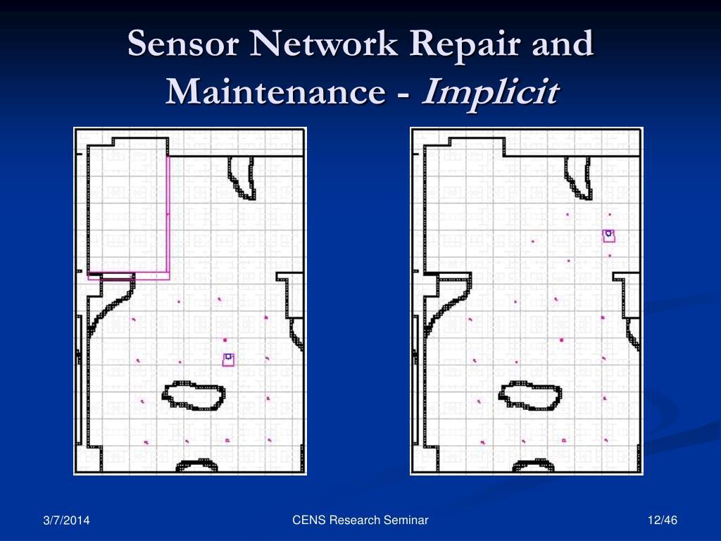 Sensor Network Repair and Maintenance -