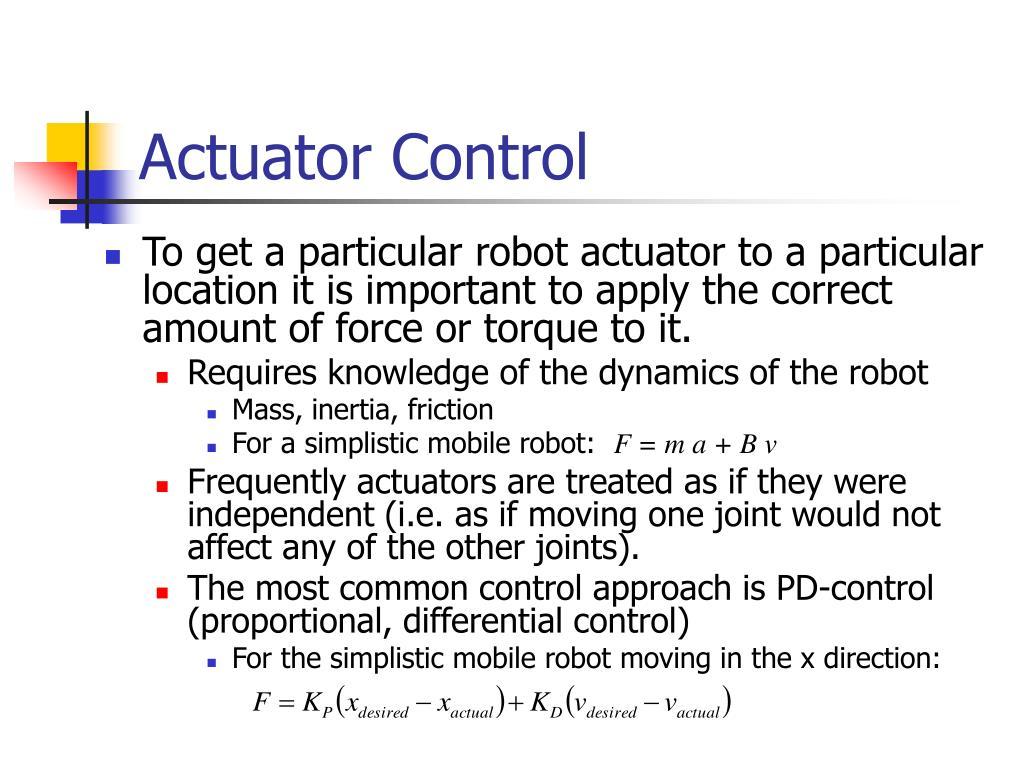 Actuator Control