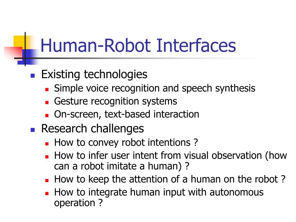 Human-Robot Interfaces