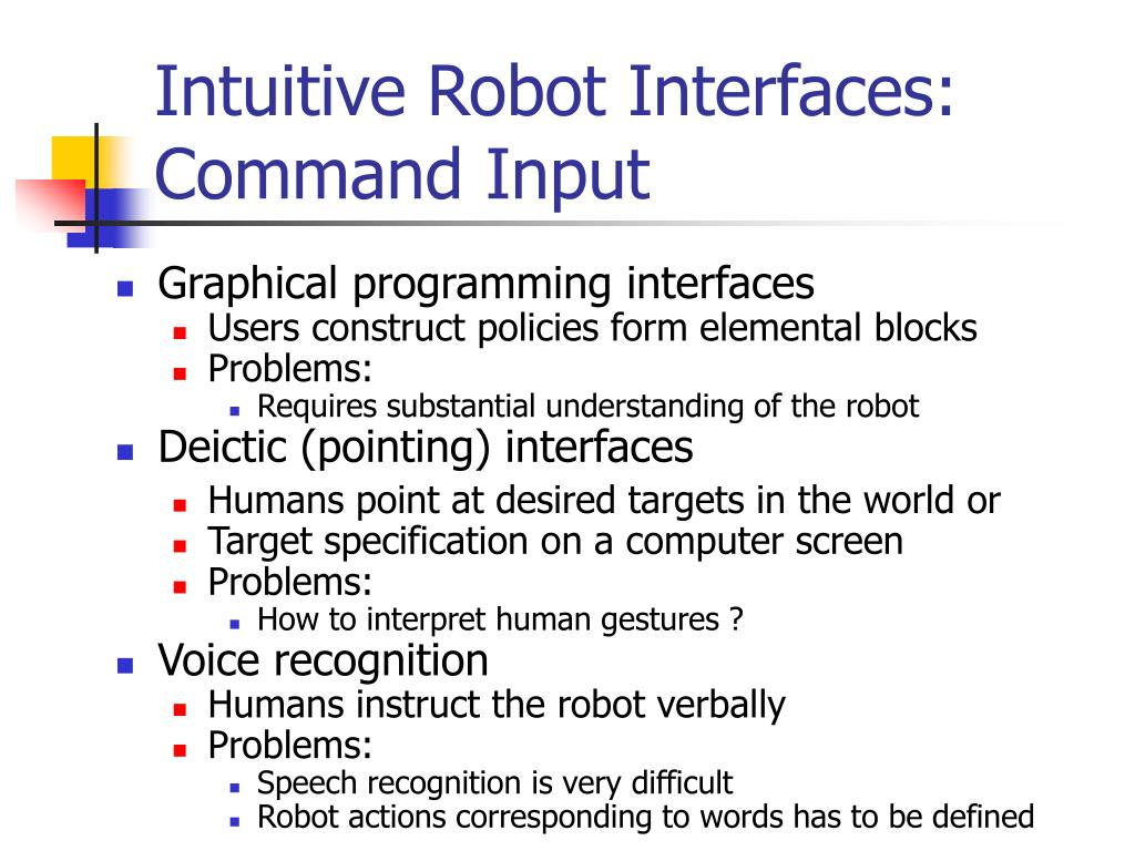 Intuitive Robot Interfaces: