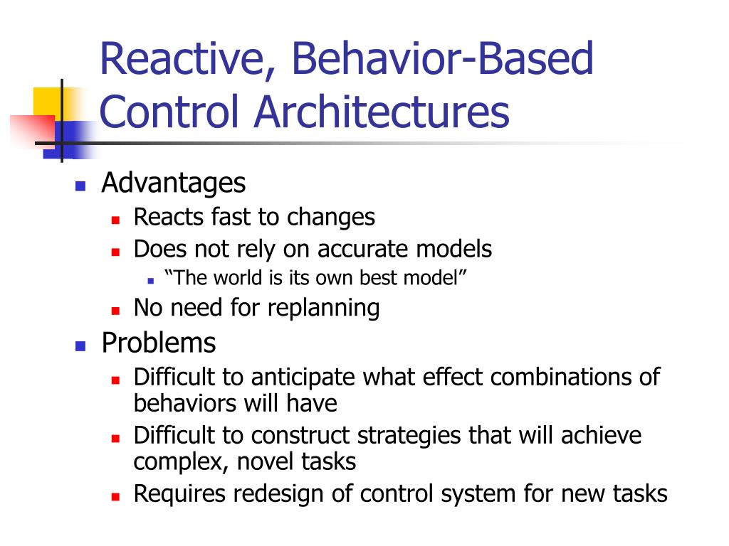 Reactive, Behavior-Based