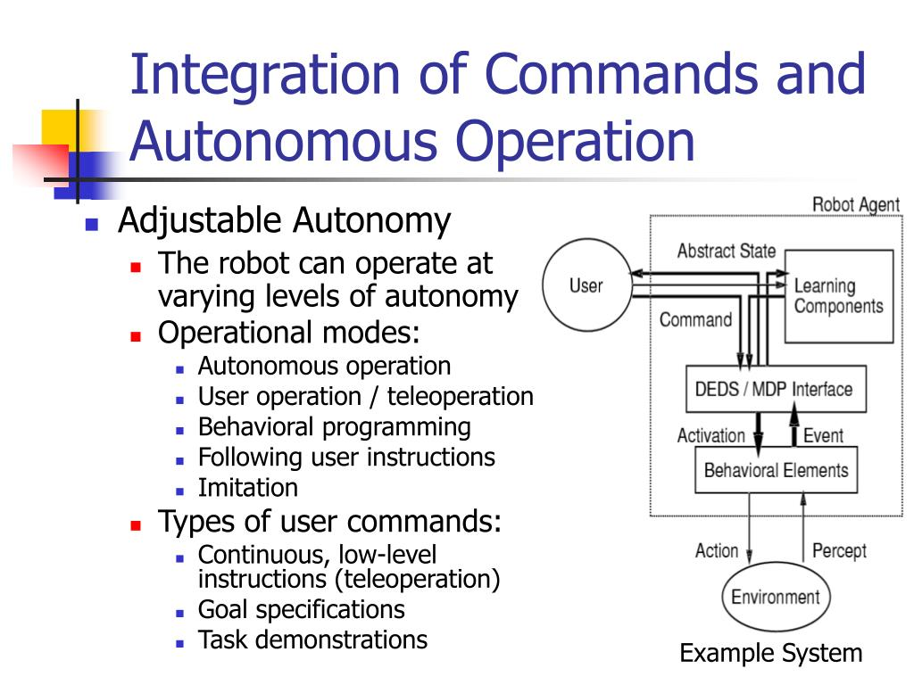 Integration of Commands and Autonomous Operation