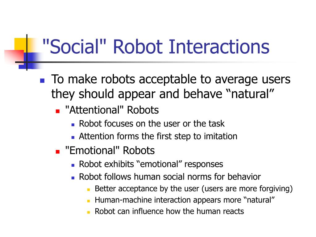 """Social"" Robot Interactions"